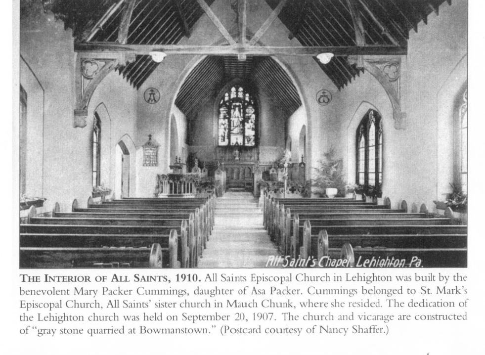 All Saints Episcopal Church, interior 1908 (2)